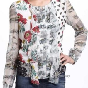 Anthropologie Leifnotes Queen Of Spades Blouse
